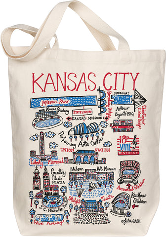 Kansas City Boutique Map Art Tote