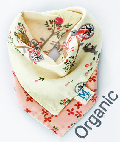 Organic Reversible Lazy Sunday Bandana Bib