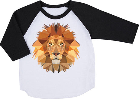 Geometric Lion Raglan