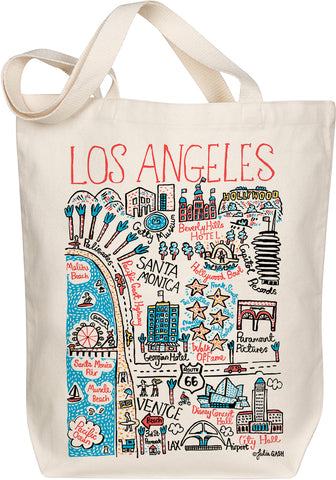 Los Angeles Boutique Map Art Tote