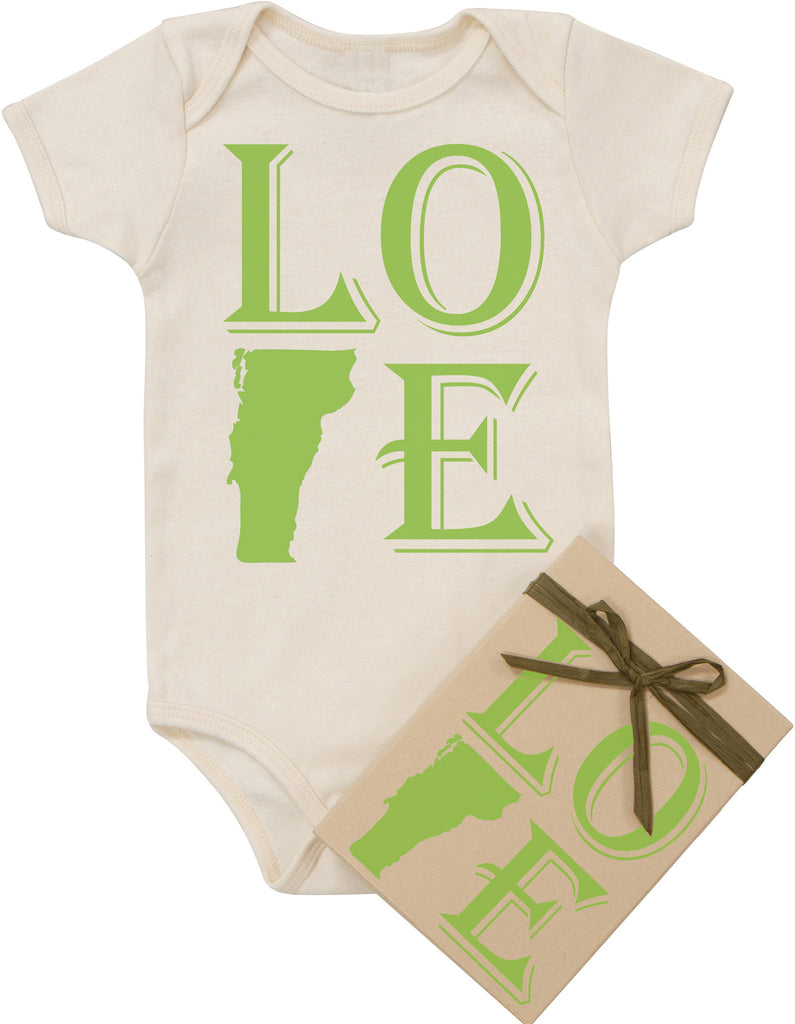 "State ""Love"" Bodysuit - Green"