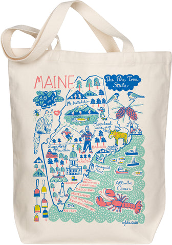 Maine Boutique Map Art Tote