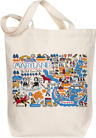 Maryland Boutique Map Art Tote