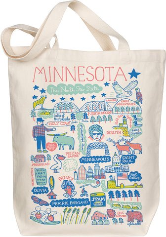 Minnesota Boutique Map Art Tote