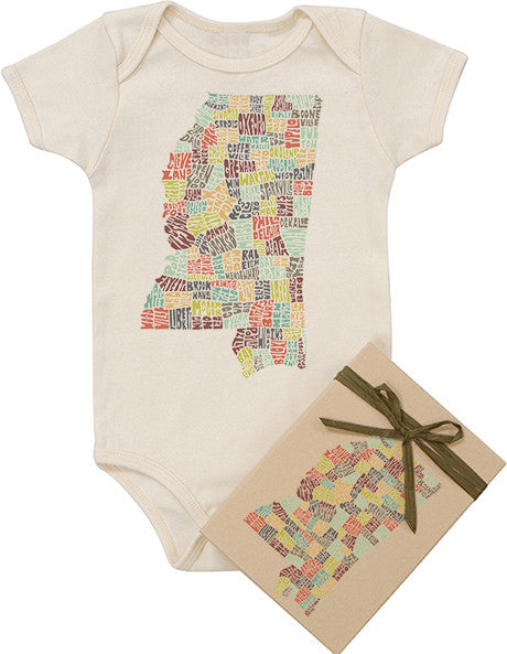 Mississippi Typography Bodysuit - Multicolor