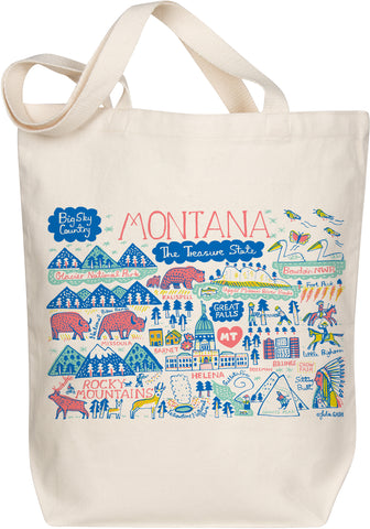 Montana Boutique Map Art Tote