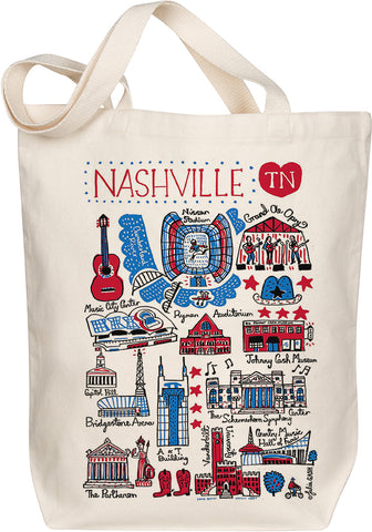 Nashville Boutique Map Art Tote