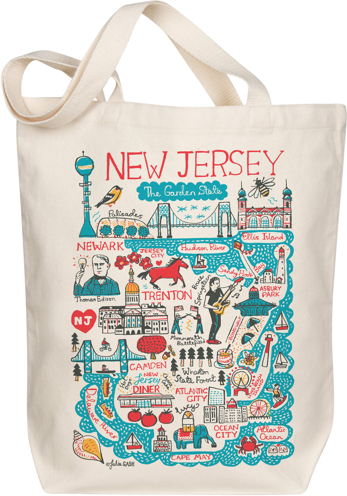 New Jersey Boutique Map Art Tote