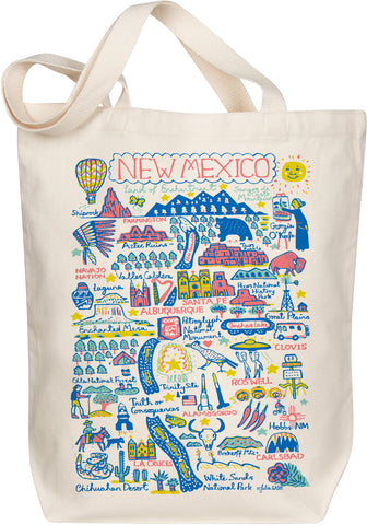 New Mexico Boutique Map Art Tote