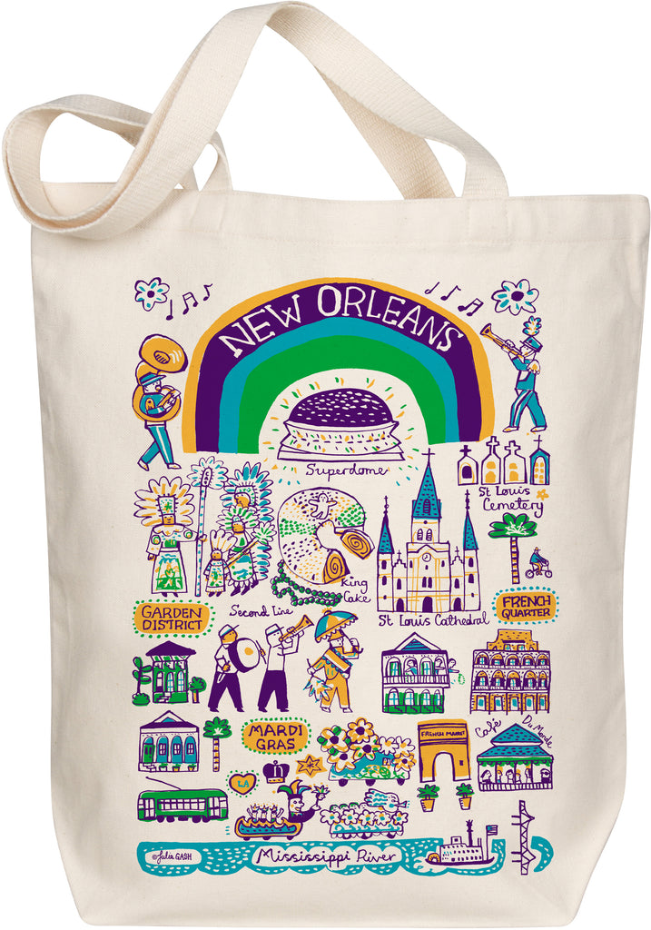 New Orleans Boutique Map Art Tote