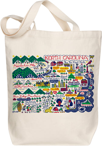 North Carolina Boutique Map Art Tote