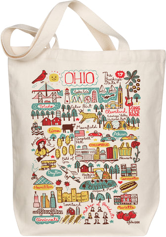 Ohio Boutique Map Art Tote