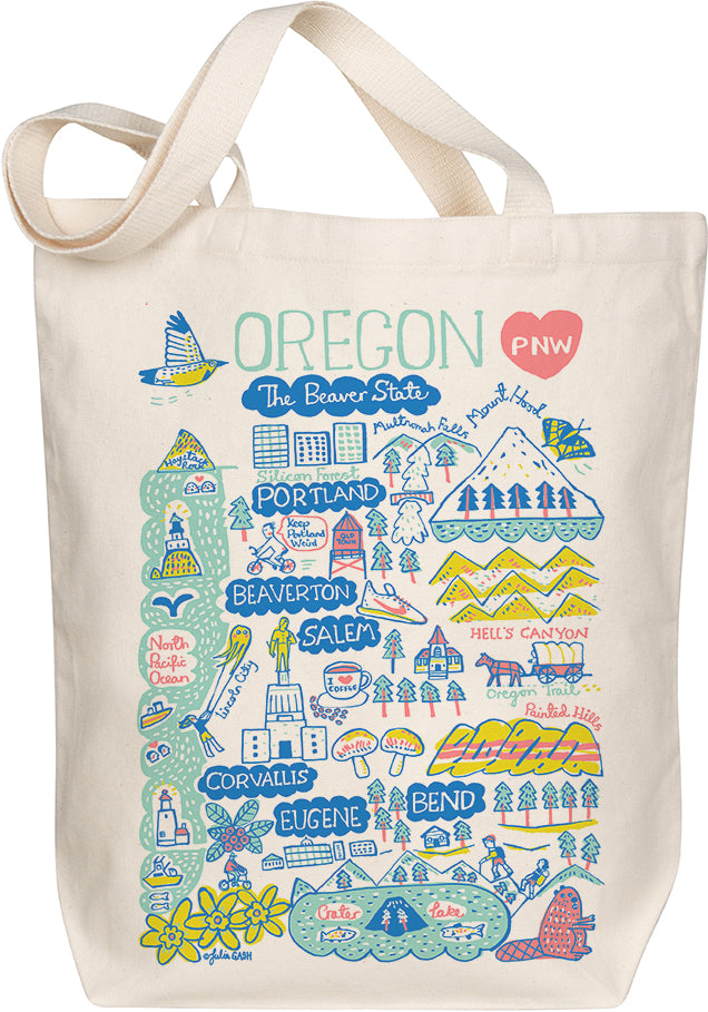 Oregon Boutique Map Art Tote
