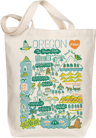 Oregon Boutique Map Art Tote - Evergreen