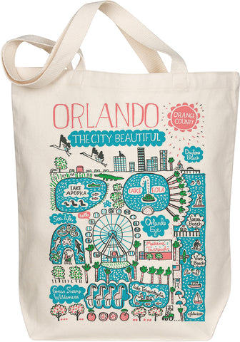 Orlando Boutique Map Art Tote