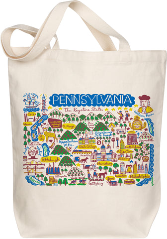 Pennsylvania Boutique Map Art Tote