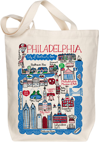 Philadelphia Boutique Map Art Tote