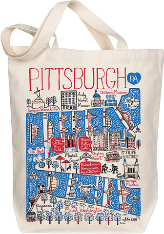 Pittsburgh Boutique Map Art Tote