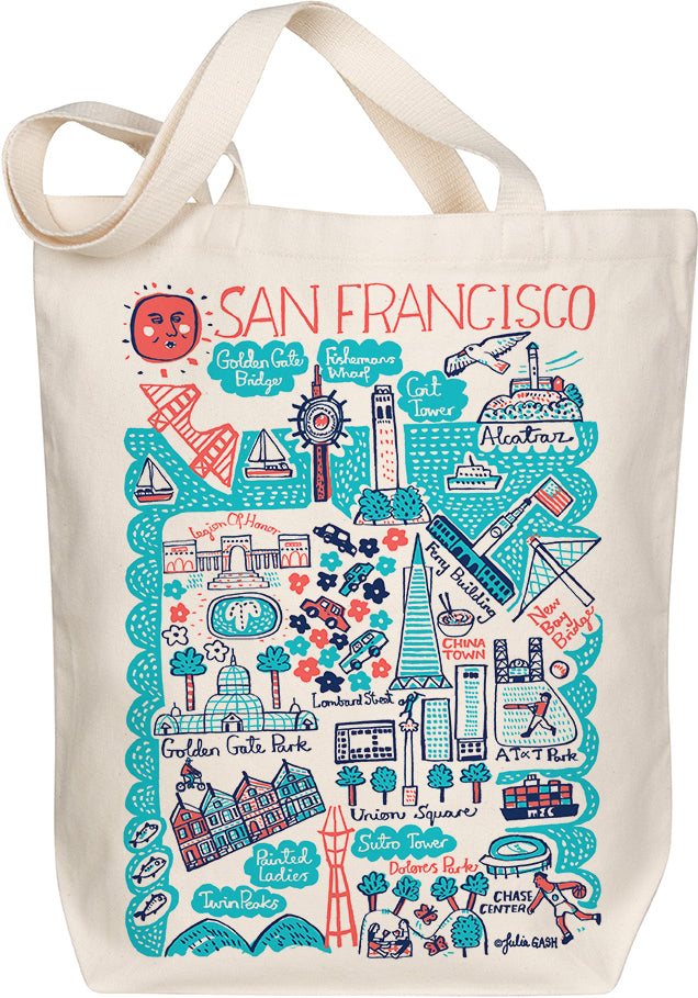 San Francisco Boutique Map Art Tote