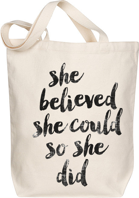 She Believed She Could Tote