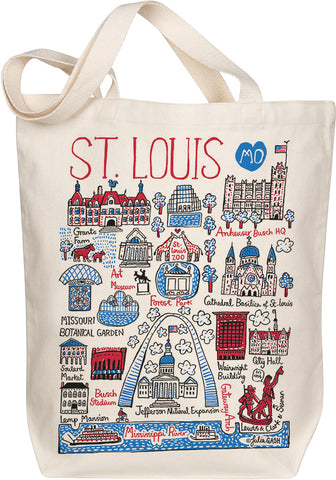 St Louis Boutique Map Art Tote
