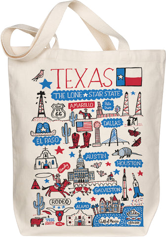 Texas Boutique Map Art Tote