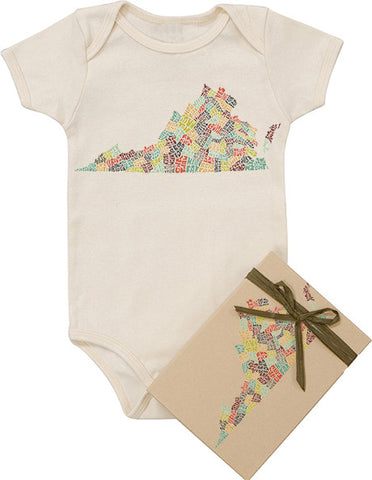 Virginia Typography Bodysuit - Multicolor