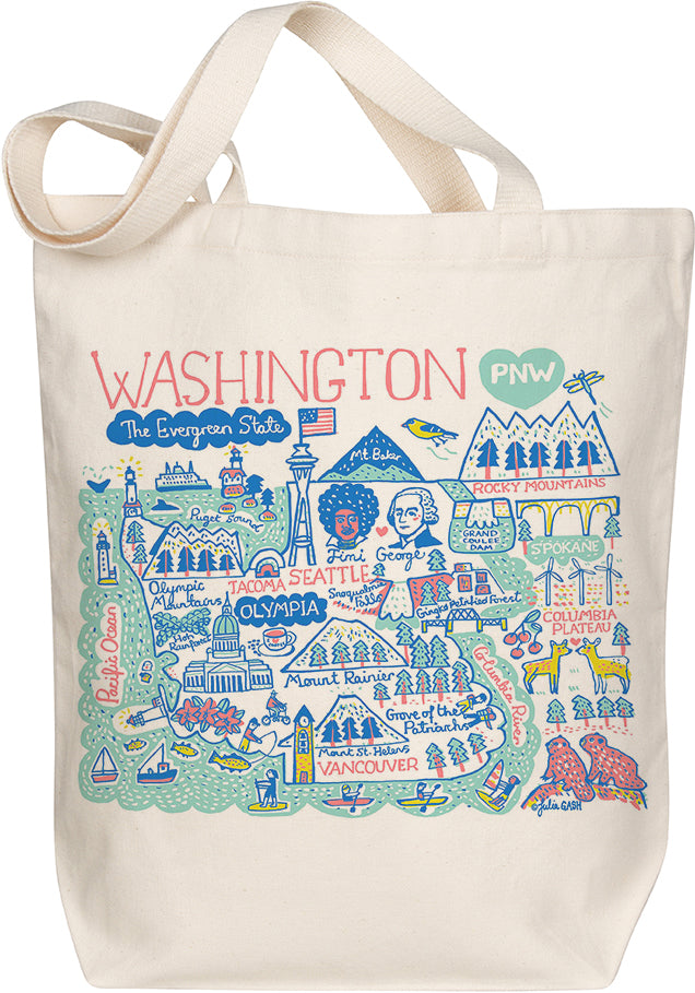 Washington Boutique Map Art Tote