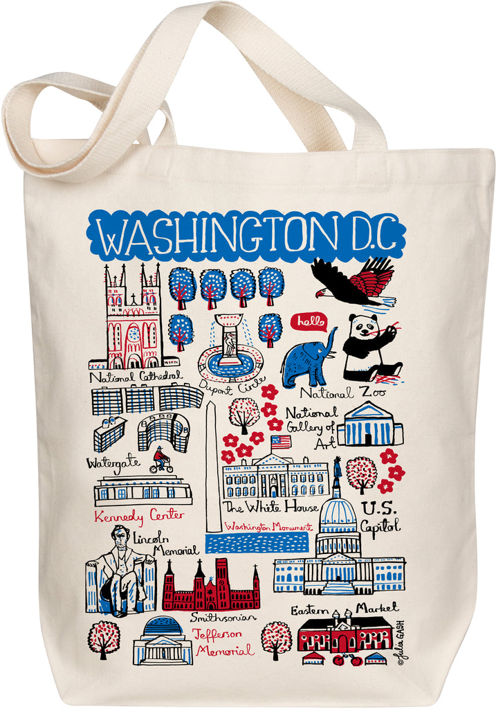 Washington DC Boutique Map Art Tote