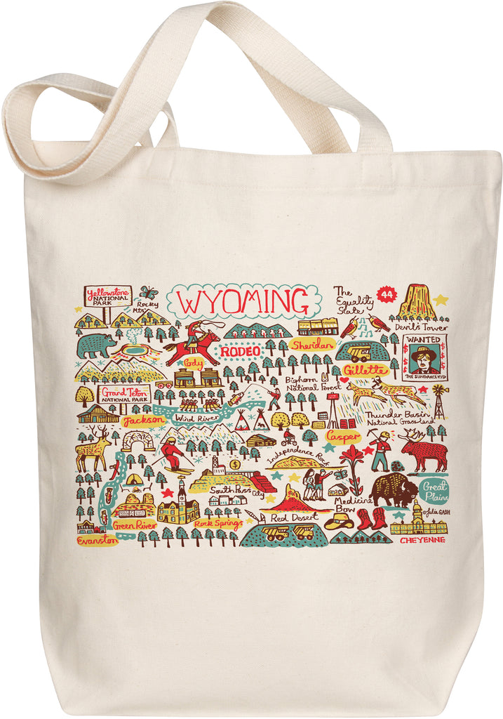 Wyoming Boutique Map Art Tote