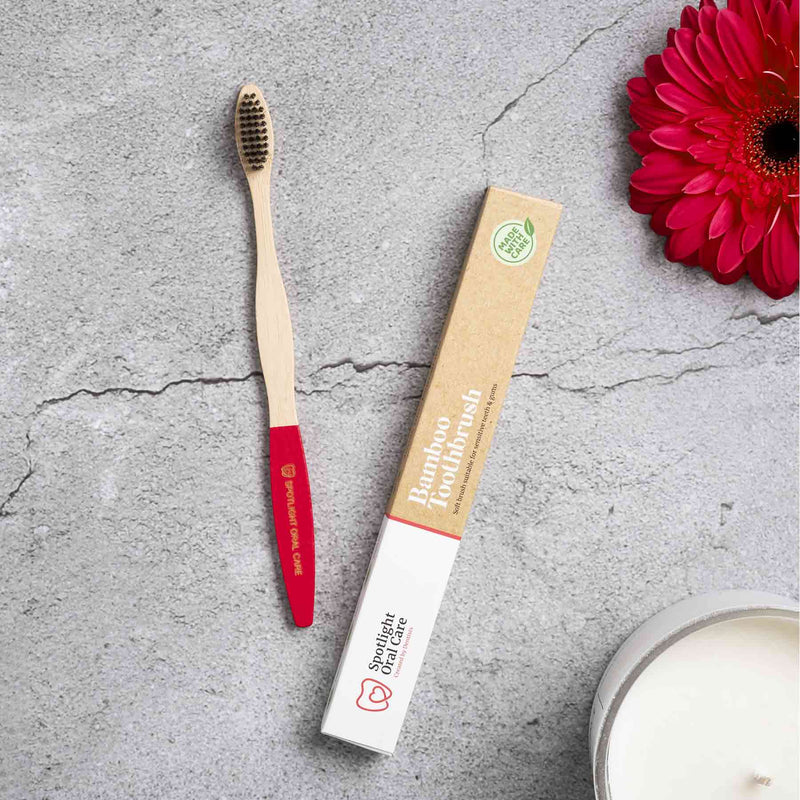 Spotlight Oral Care Bamboo Brush - Red