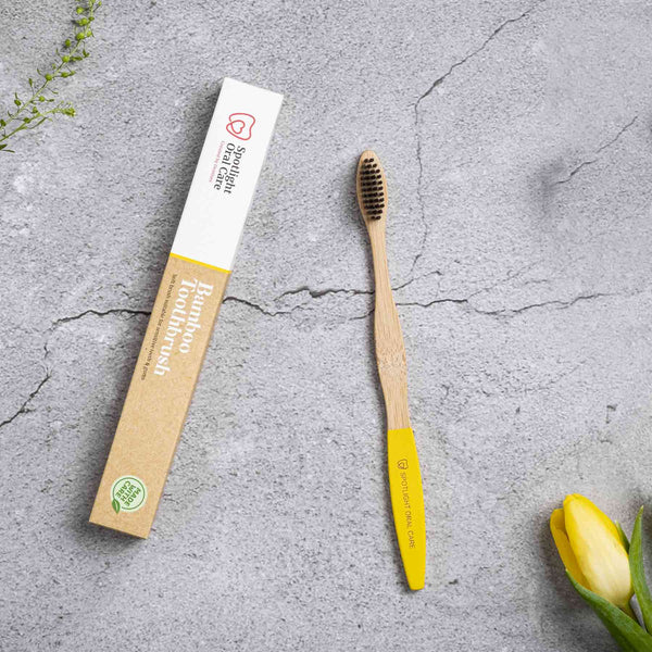 Spotlight Oral Care Bamboo Brush - Yellow