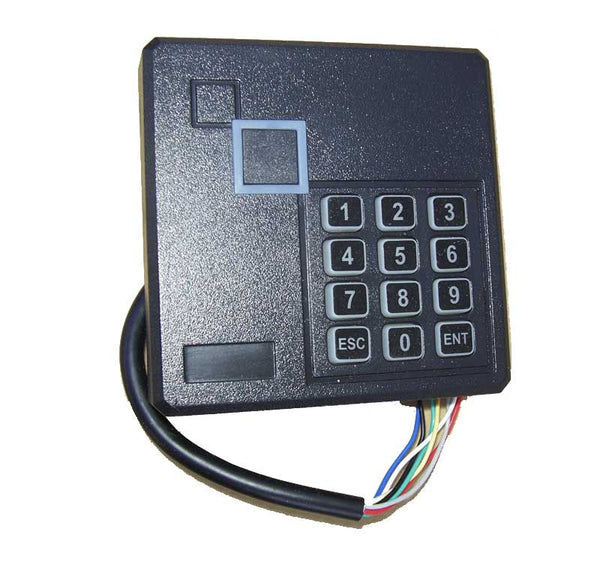 EM4100 card reader, outdoor with keypad
