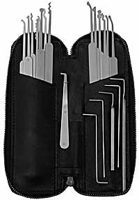 Euro/Japan Slim-Line 22 Pc. Lock Pick Set