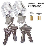 Clear Practice Lock Set