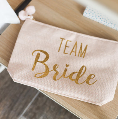 Team Bride Zip Pouch - Blush