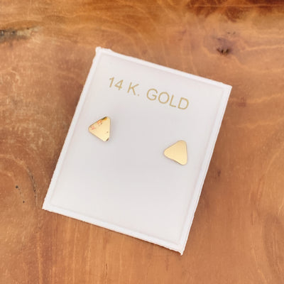 Mini Triangle Studs - 14KT Gold