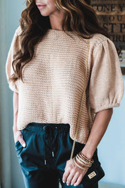 Clara Short Sleeve Sweater Top