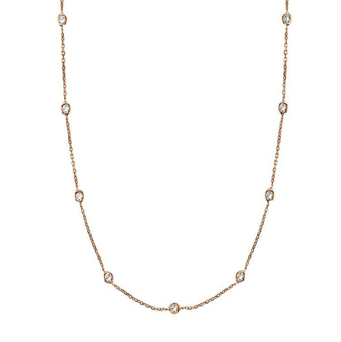 Esme Long CZ Station Necklace