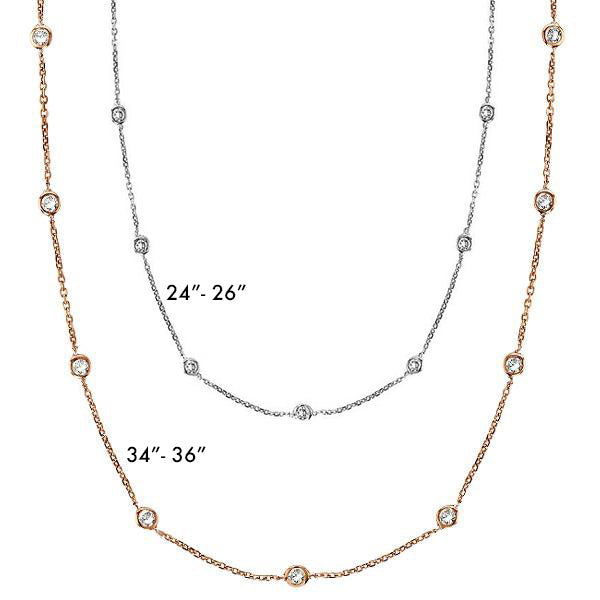 Gemma CZ Station Necklace