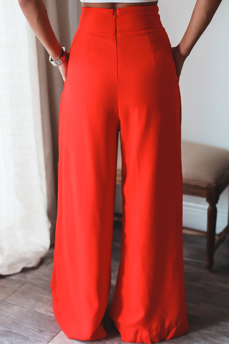 The Chloe Trousers - Red