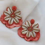 I Sea You Coral Statement Earrings