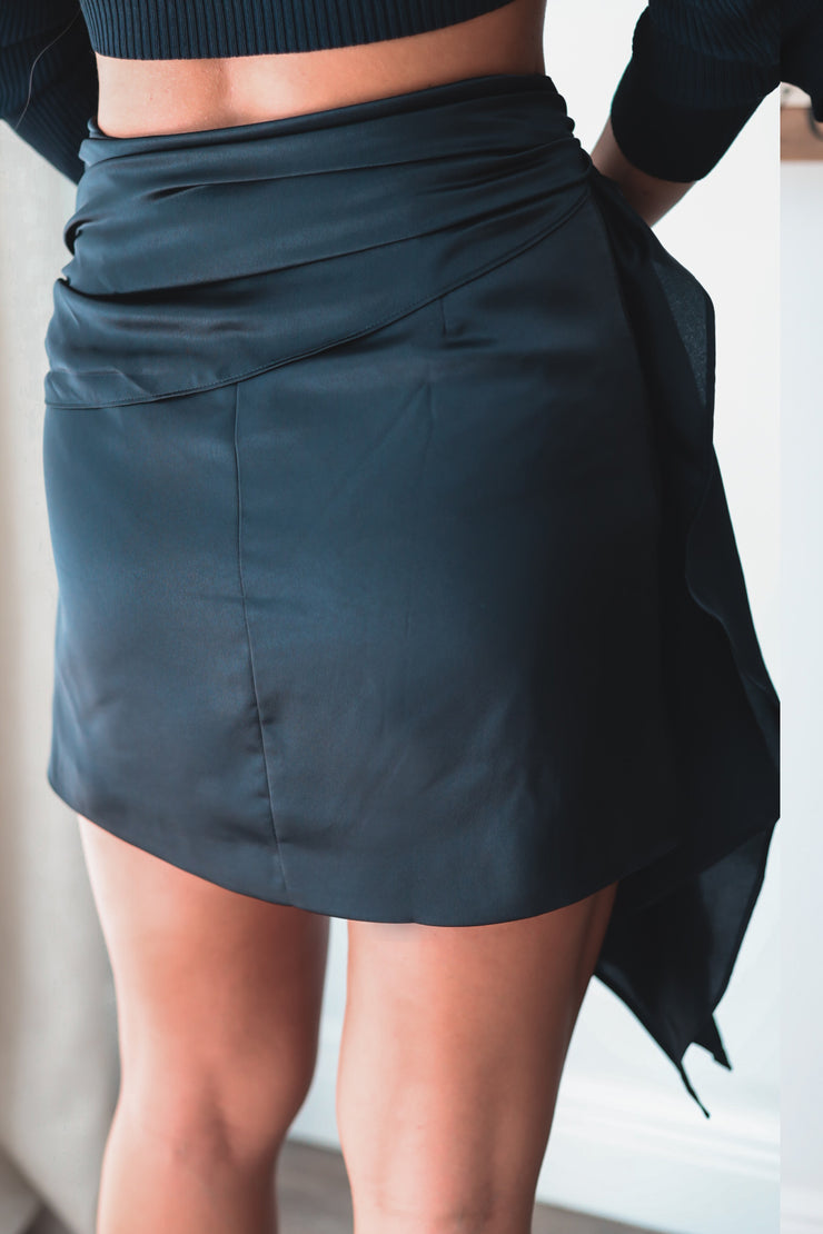 Sophia Front Drape Mini Skirt