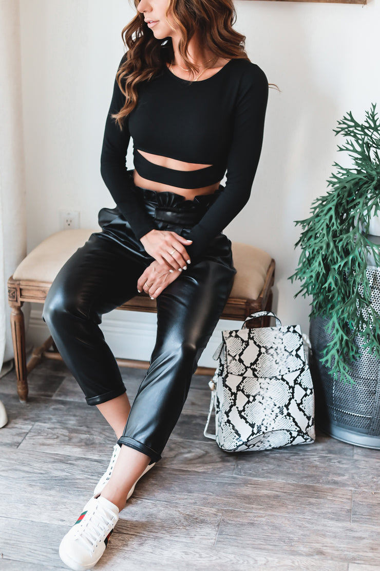 Bailey Faux Leather Trouser