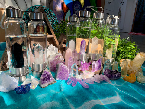 Crystal Wand Water Bottle + Protective Sleeve (Stainless Steel)