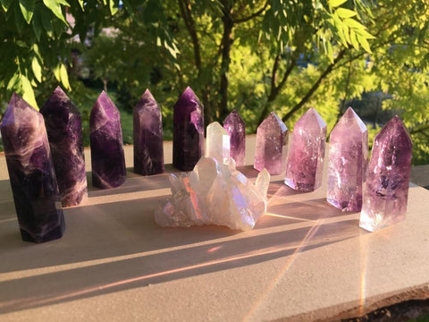 Scintillating Crystal Amethyst 11 Piece Set