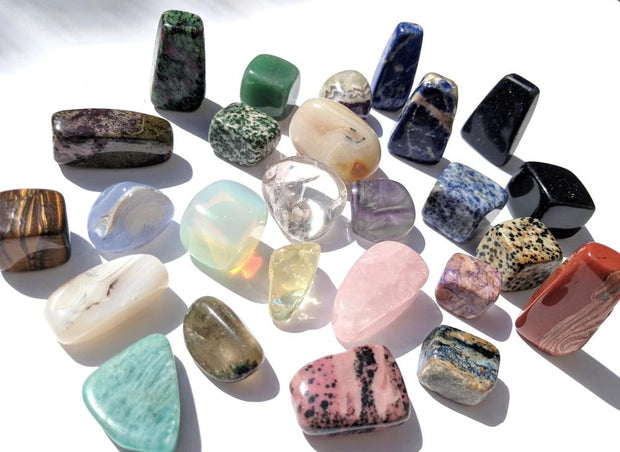 25 Unique Tumbled Gemstone Collectors Pack - tumbledstone