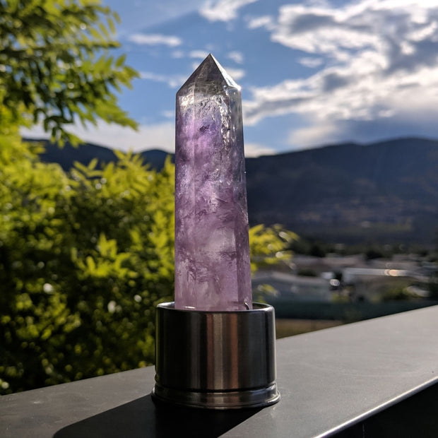 Crystal Insert (for Crystal Point Water Bottles) - Amethyst