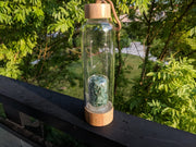 Gem Pod Water Bottle + Protective Sleeve (Bamboo) - Aventurine