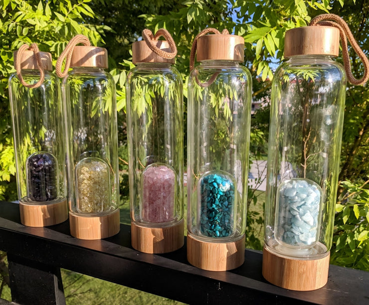 Gem Pod Water Bottle + Protective Sleeve (Bamboo)